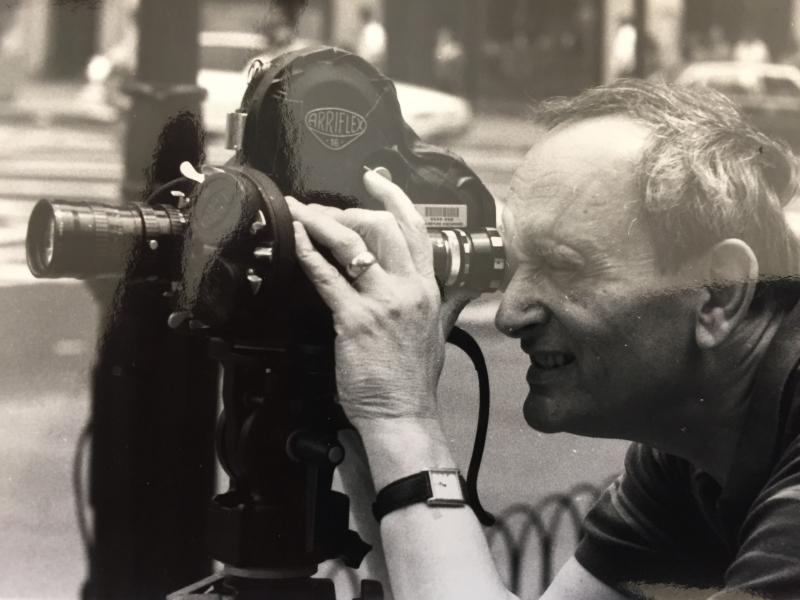 Checking focus on a shoot at NYU summer film school.