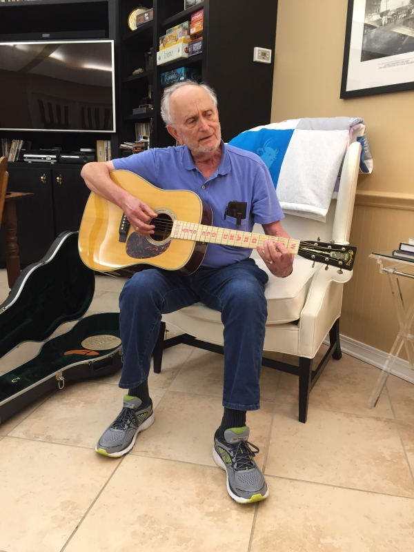 Working out with my Grand Ole Opry limited edition Martin D-28 guitar.