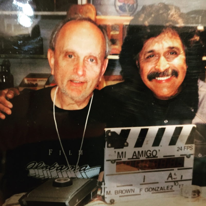 On location with Freddy Fender,  who recorded