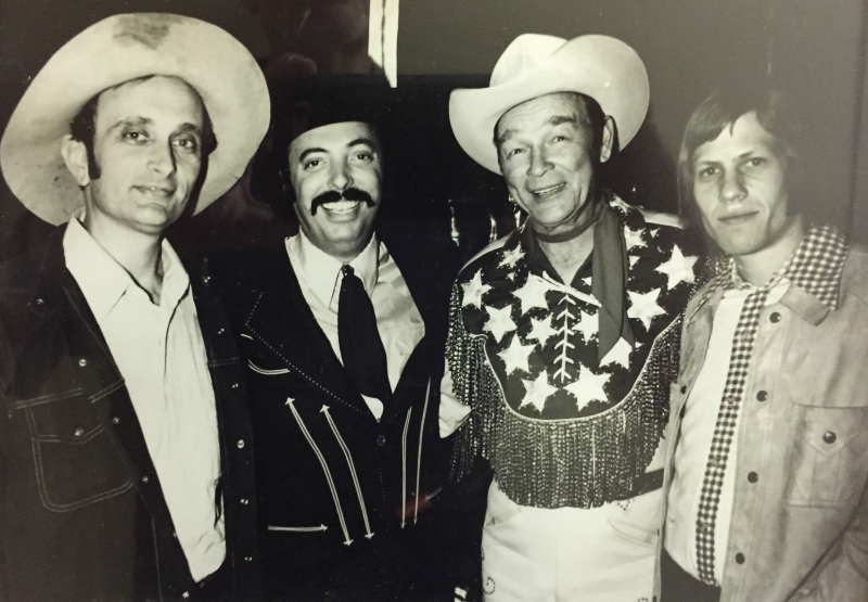 Stained hat and all, I'm with producer Snuff Garrett, childhood hero Roy Rogers, and co-writer, Steve Dorff celebrating the release of