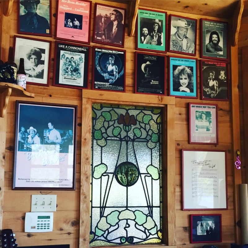 Here's one wall from my bay house office, that includes sheet music, photos, memorebelia, and one sheets from fun years spent in this crazy music and film industry.