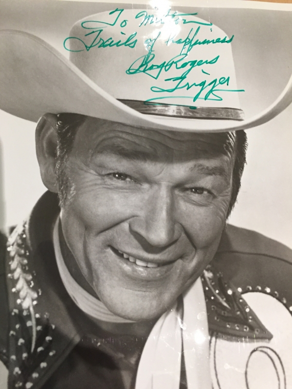 What's nicer than a photo from childhood hero, silver screen cowboy, Roy Rogers?